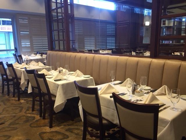 Restaurant table upholstery