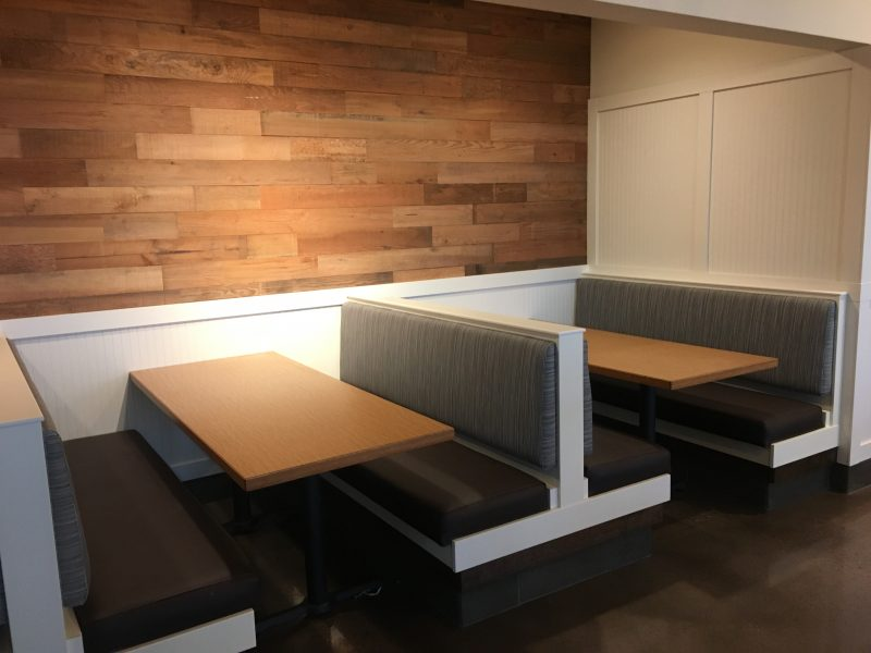 New Reupholstery Restaurant Booths