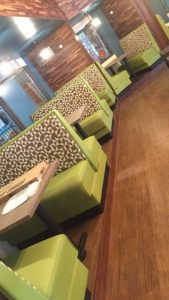 Restaurant Booth Reupholstery