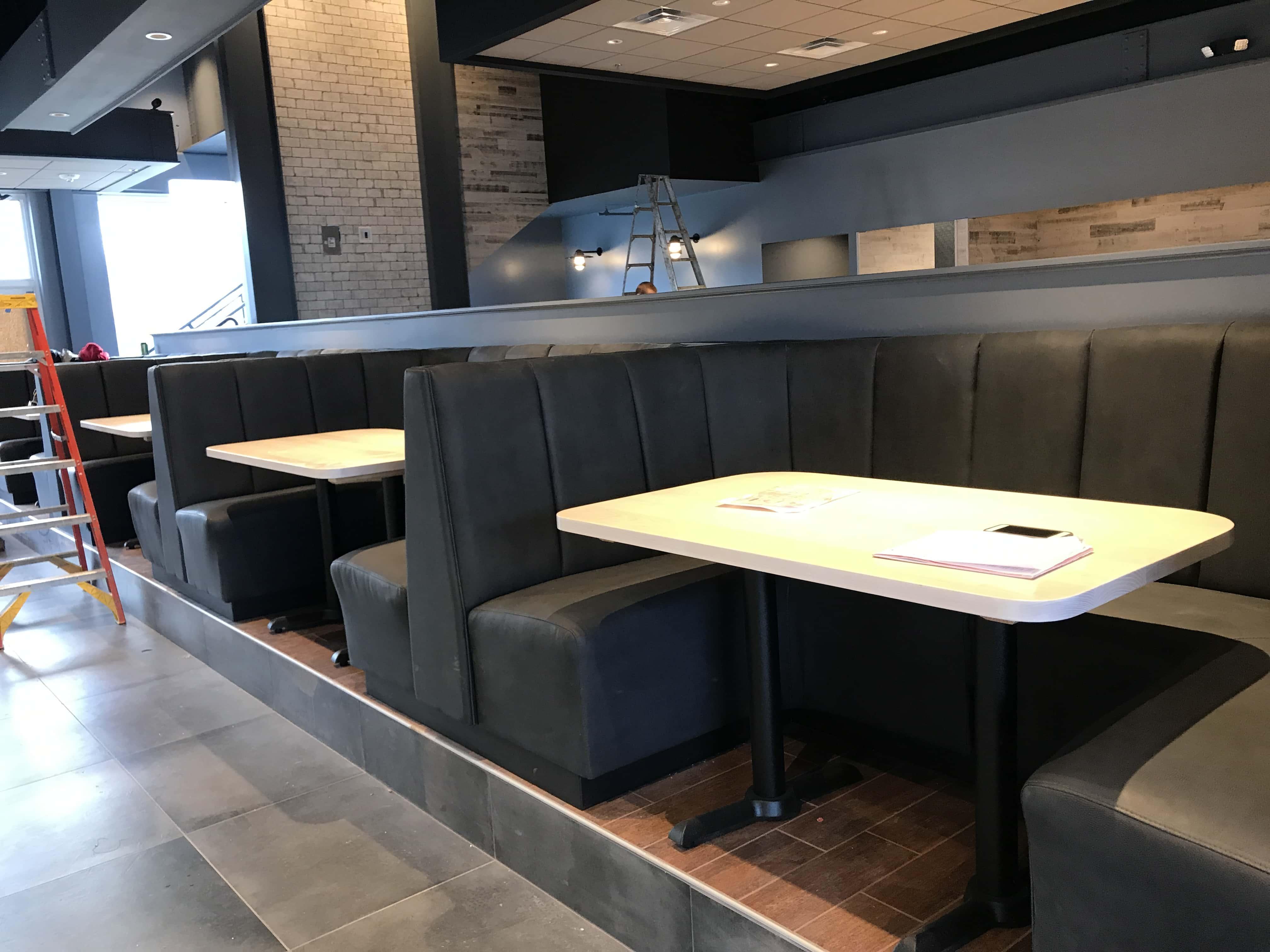 Restaurant chair upholstery